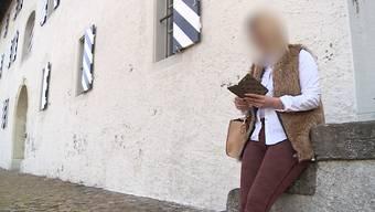 Die Frau vor dem Bezirksgericht in Brugg.