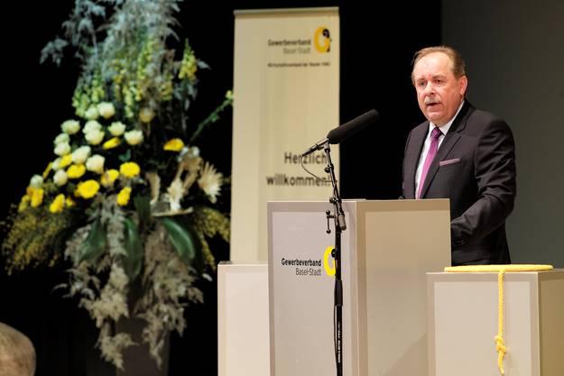 Ansprache von Marcel Schweizer, dem Präsident des Gewerbeverbands Basel-Stadt.