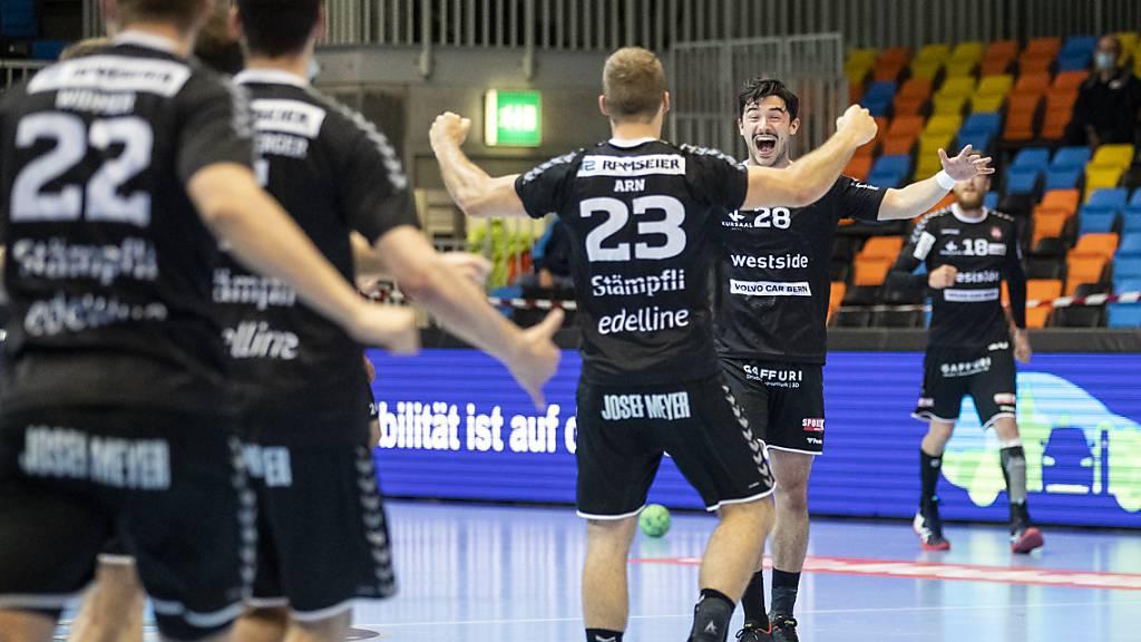 Viel Grund zum Jubeln zu Beginn der jungen Saison: die Handballer vom BSV Bern. (Archivbild)