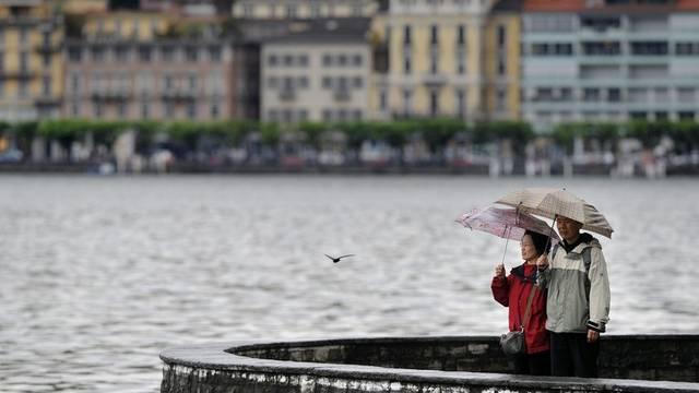 Blick auf den Luganersee: Regen ja, aber keine Überschwemmungen (Symbolbild)