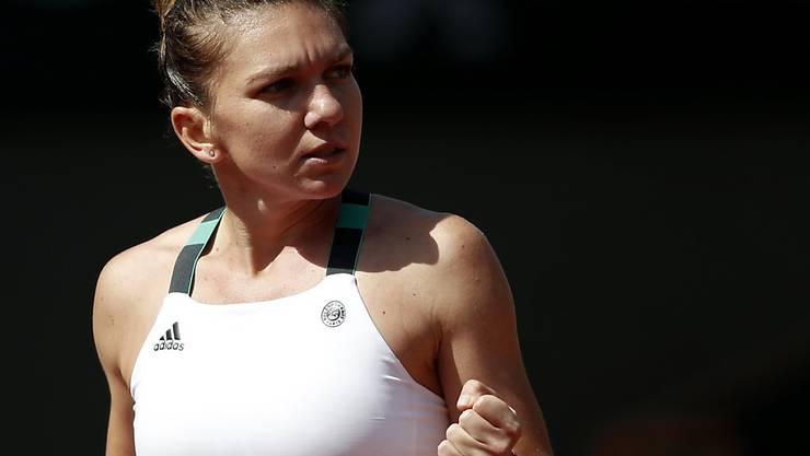 Bisher völlig ungefährdet: die als Nummer 3 gesetzte Rumänin Simona Halep