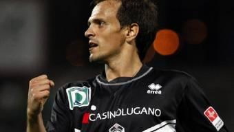 Luganos Carlos Da Silva als Doppeltorschütze