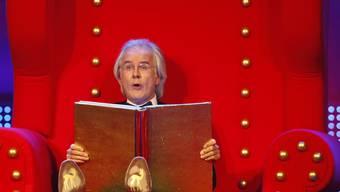 Harald, der Märchenonkel bald ins Fernsehen zurück - und hat hoffentlich nichts von seiner alten Schärfe eingebüsst.
