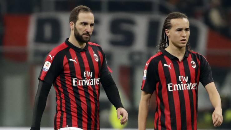 Enttäuschte Südamerikaner bei Milan: Gonzalo Higuain (links) und Diego Laxalt