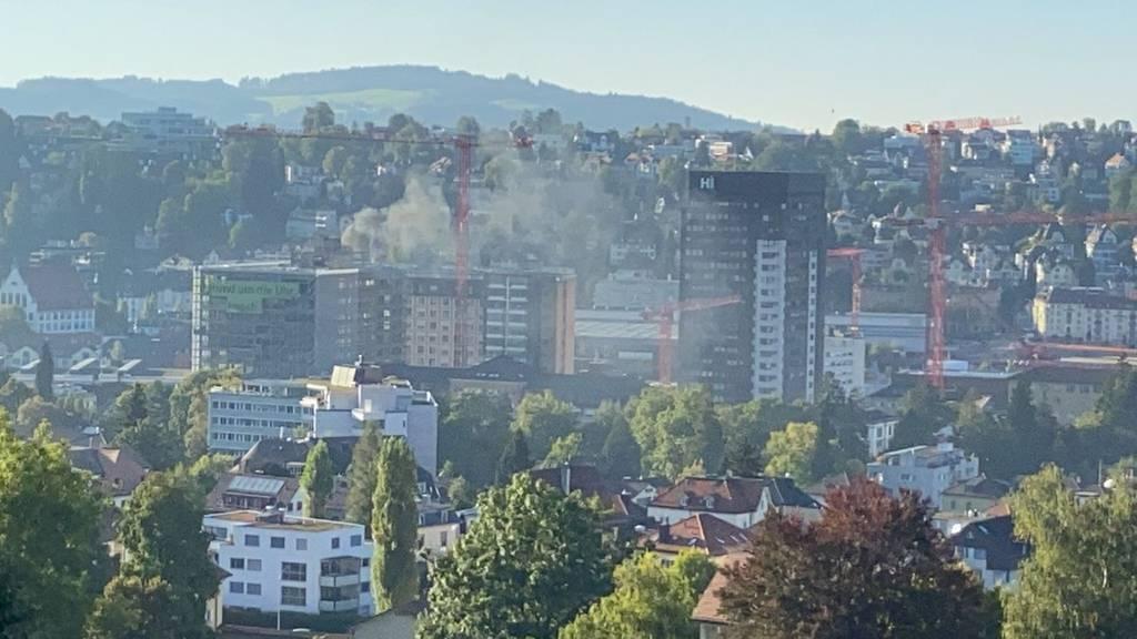 Feuerwehreinsatz: Brand auf dem KSSG-Areal