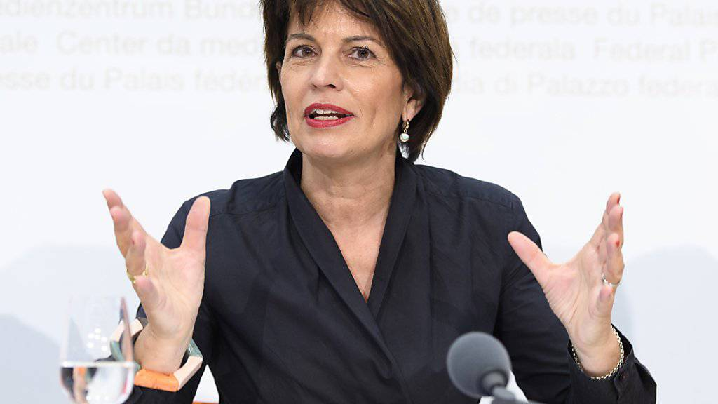 Verkehrsministerin Doris Leuthard glaubt, dass das Velo noch Potenzial hat.