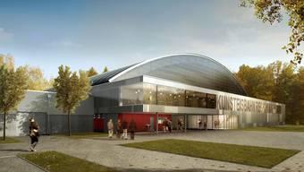 Die Kunsteisbahn Aarau wird nun ein Jahr später fertiggestellt als geplant