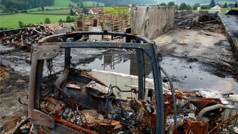 Über 40 Tiere fanden in Herbetswil den Flammentod: Die Bilder der Zerstörung