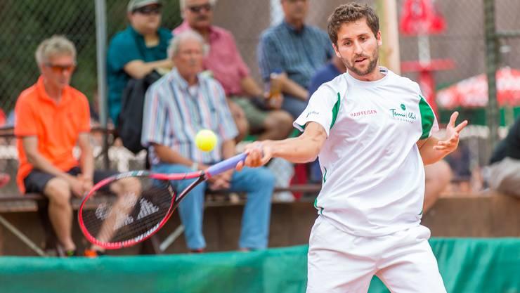 Verbuchte im Halbfinal gegen GC Zürich den einzigen Sieg für den TC Froburg Trimbach: Sandro Ehrat.