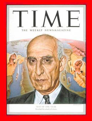 7. Januar 1952: Mohammed Mossadegh: Man of the Year.