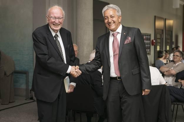Professor Rolf Dubs war Doktorvater von Erich Leutenegger an der Uni St.Gallen (HSG). Er war ebenfalls anwesend.