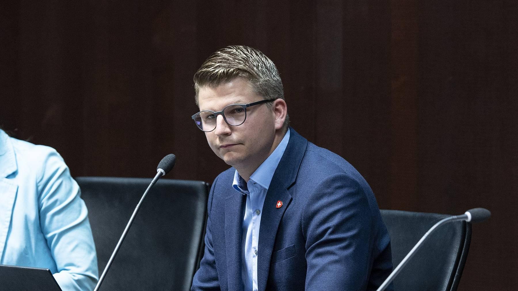 Die SVP-Nationalräte Monika Rüegger, Mike Egger und Manuel Strupler (v.l.) stellten im Juli ihre Argumente gegen die Überbrückungsrente vor.
