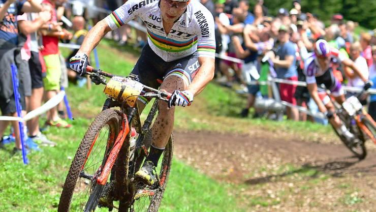 Heimsieg für den Olympiasieger: Nino Schurter gewinnt in Lenzerheide