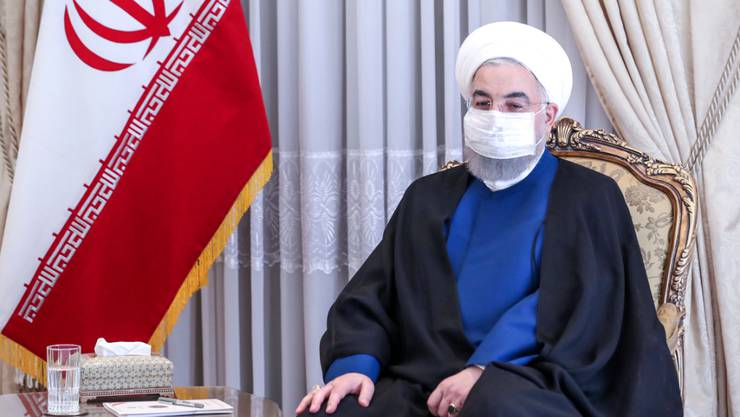 HANDOUT - Hassan Ruhani, Präsident des Iran, ist zu einer Zusammenarbeit mit dem neuen US-Präsidenten bereit. Foto: -/Iranian Presidency/dpa - ATTENTION: editorial use only and only if the credit mentioned above is referenced in full