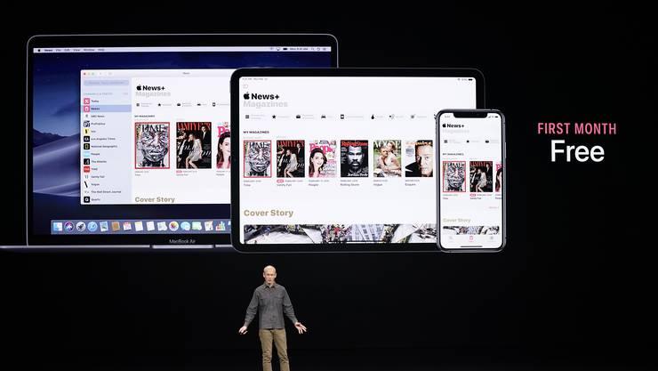 Setzt auf Abonnement-Dienste: Apple-Chef Tim Cook in Cupertino.