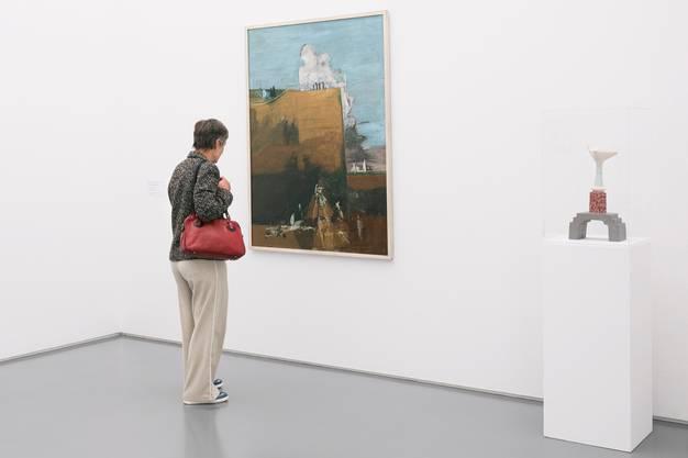Die Schreibende sinniert am 12. Mai vor «Am Abgrund» von Walter Kurt Wiemken und vor der versteinerten «Wolke auf der Brücke» von Meret Oppenheim.