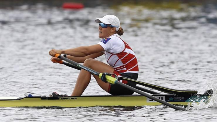 Jeannine Gmelin ist an den Weltmeisterschaften in Plovdiv die Schweizer Top-Hoffnungsträgerin