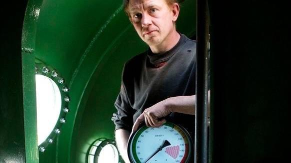 Peter Madsen in seinem U-Boot 2008.