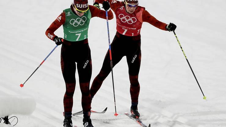 Nadine Fähndrich und Laurien van der Graaff fehlen im Teamsprint 18 Sekunden zu Bronze