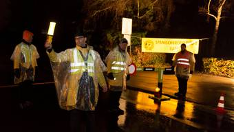 Waren schon 2014 im Einsatz Die «Gilets jaunes» beim Checkpoint Chrättli. Offenbar wollen sie nun am Sonntag wieder in Baden aufkreuzen.