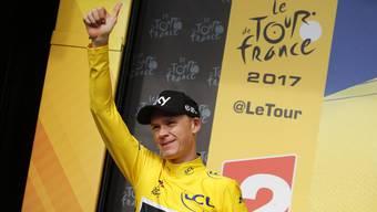 Chris Froome holte sich das zwei Tage zuvor verlorene Maillot jaune von Fabio Aru zurück.