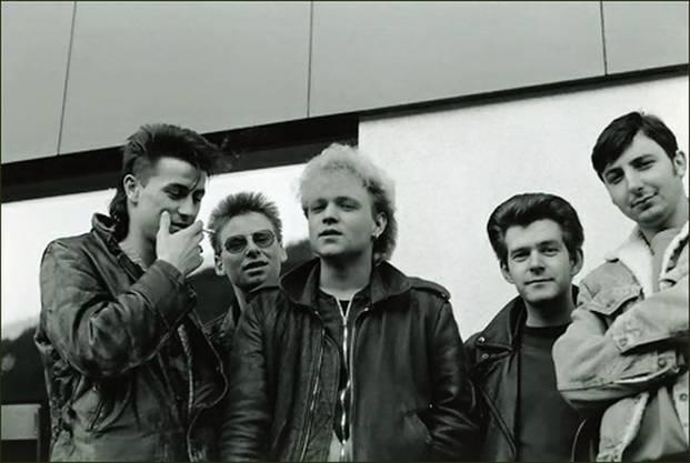 Fast dieselbe Besetzung (Strub steht links) in den Achtzigern.