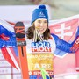Petra Vlhova nach dem Gewinn der Goldmedaille im Riesenslalom