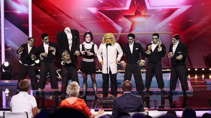 Die Holmikers aus Mels nach ihrem Auftritt beim RTL «Supertalent».