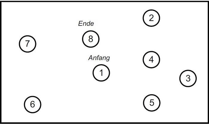 Eine der Testfragen: «Verbinden Sie die Zahlen der Reihe nach»