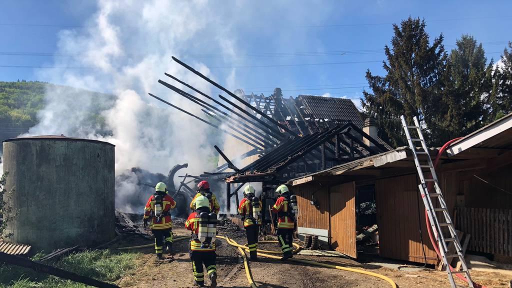 Brand in Bauernhaus Zeiningen