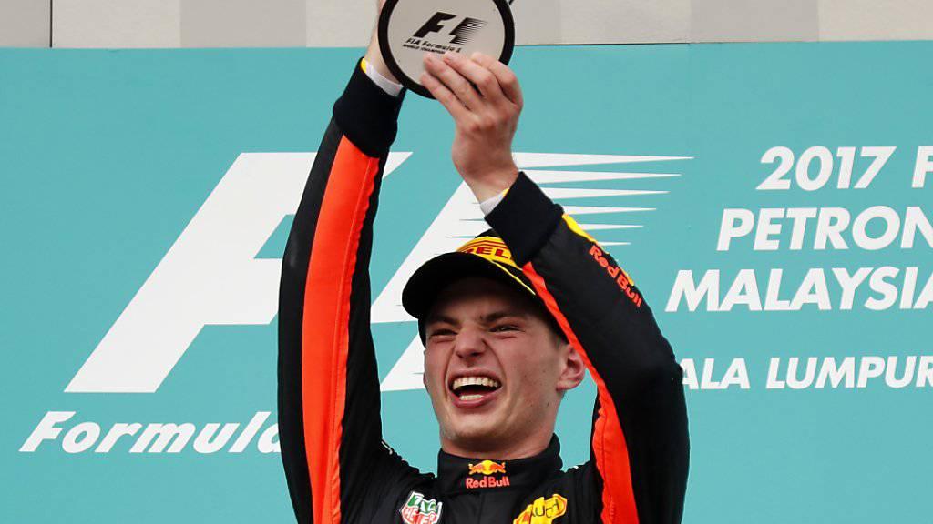 Triumph am Tag nach dem 20. Geburtstag: Max Verstappen