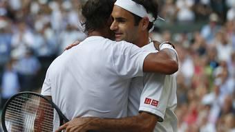 Roger Federer und Rafael Nadal lieferten sich einmal mehr ein packendes Duell in Wimbledon
