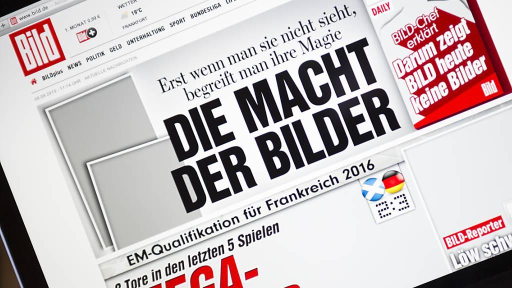 Deutsche Zeitung «Bild» plant TV-Sender
