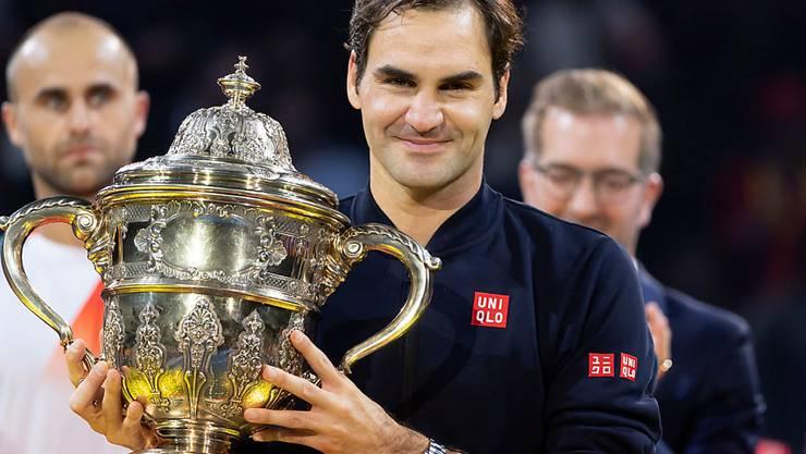 Roger Federer gewann in Basel seinen 99. Titel auf der ATP-Tour