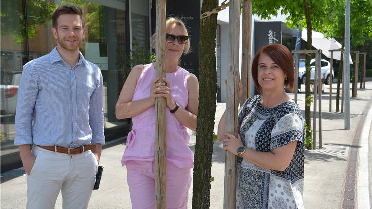 Fabian Wermelinger, Nicole Wey und Biljana Pola haben gemeinsam die Sommer-Einkaufstage lanciert. Fabio Vonarburg