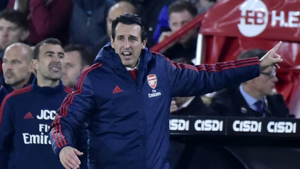 Die Anweisungen von Arsenals Coach Unai Emery nützen nichts.