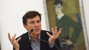 Ab 2016 soll er sieben Jahre lang das Kunstmuseum Basel führen: Josef Helfenstein, hier vor einem Schiele-Bild.