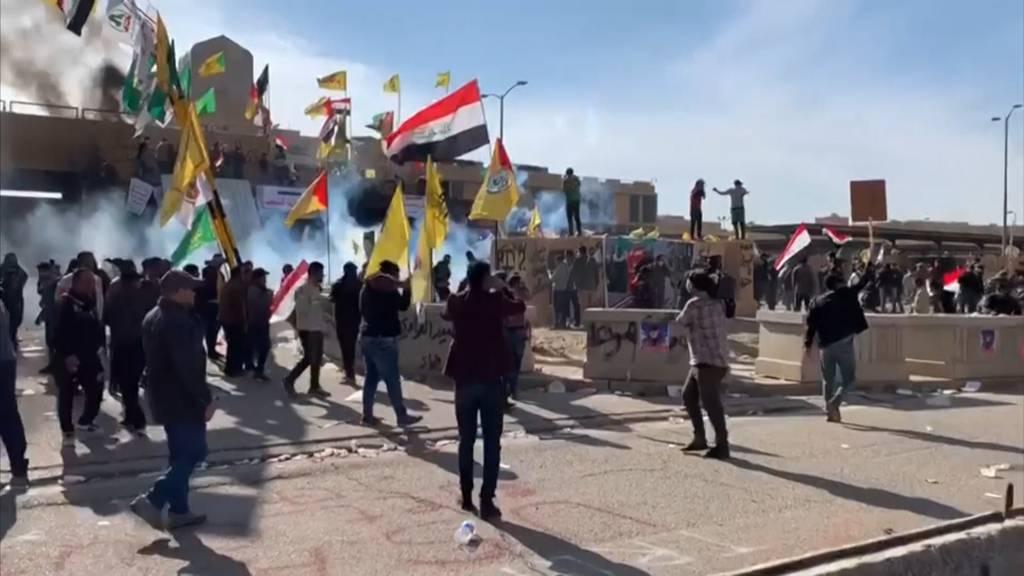 Ausschreitungen in Bagdad: USA schickt mehr Soldaten