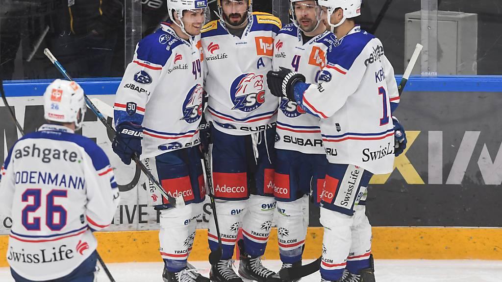 Die ZSC Lions verteidigten die Tabellenführung mit dem klaren Sieg in Lugano erfolgreich