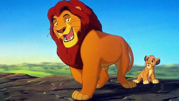 Mufasa und Simba in der Originalfassung von 1994.