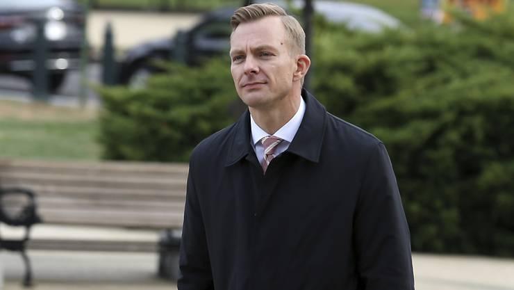 Der US-Diplomat David Holmes vor seiner Anhörung in Washington.