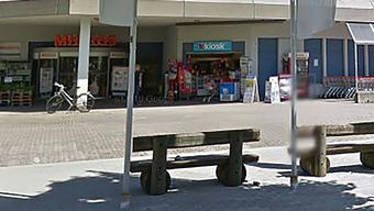 Der überfallene Kiosk in Lupfig.