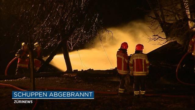 Scheunenbrand in Feusisberg-Schindellegi