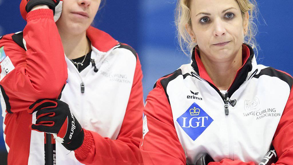 Der wichtigste Teil des Schweizer Frauenteams: Silvana Tirinzoni (rechts) und Manuela Siegrist