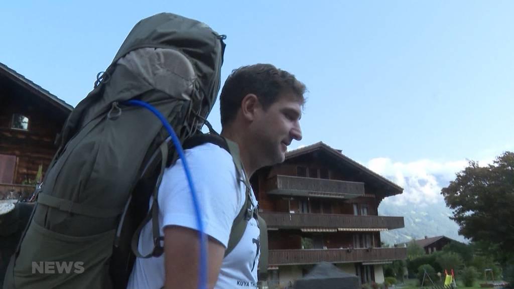 15'000 Kilometer bis auf die Philippinen: Thomas Kellenberger startet heute zu Fuss in Interlaken