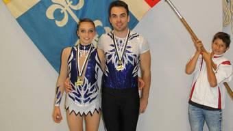 Das Siegerpärchen: Alisha Thaller und Dario Speidel (KTV Dietikon)