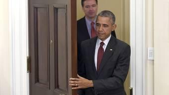 US-Präsident Barack Obama stärkt FBI-Chef James Comey in der Mail-Affäre um Hillary Clinton den Rücken. (Archivbild)