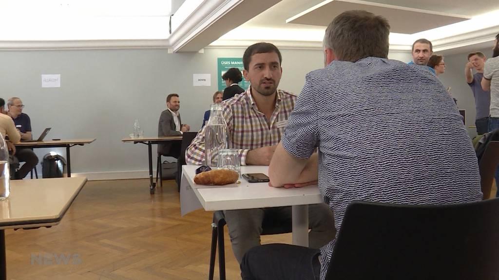 Speed-Dating für Flüchtlinge auf Jobsuche