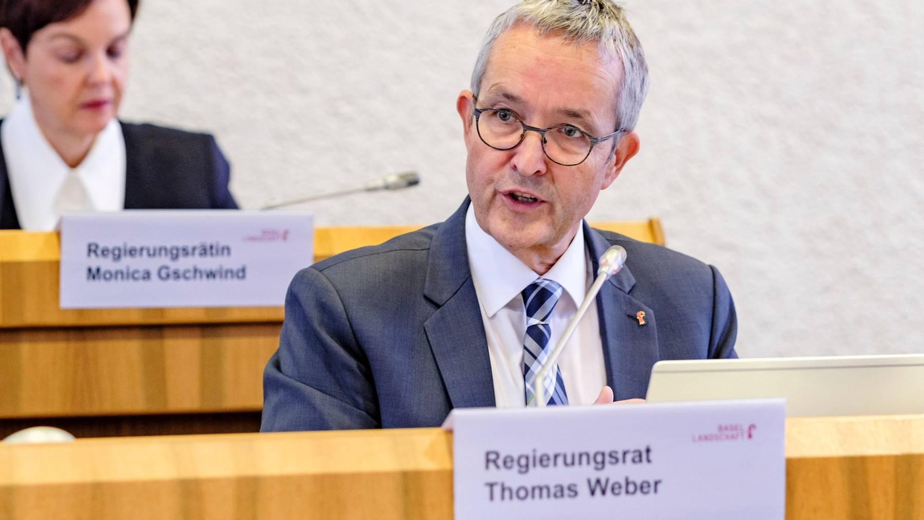 Der Baselbieter Regierungsrat Thomas Weber muss sich vor Gericht verantworten.