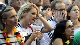 Deutsche beim Public Viewing in Zürich während der WM 2010 in Südafrika.